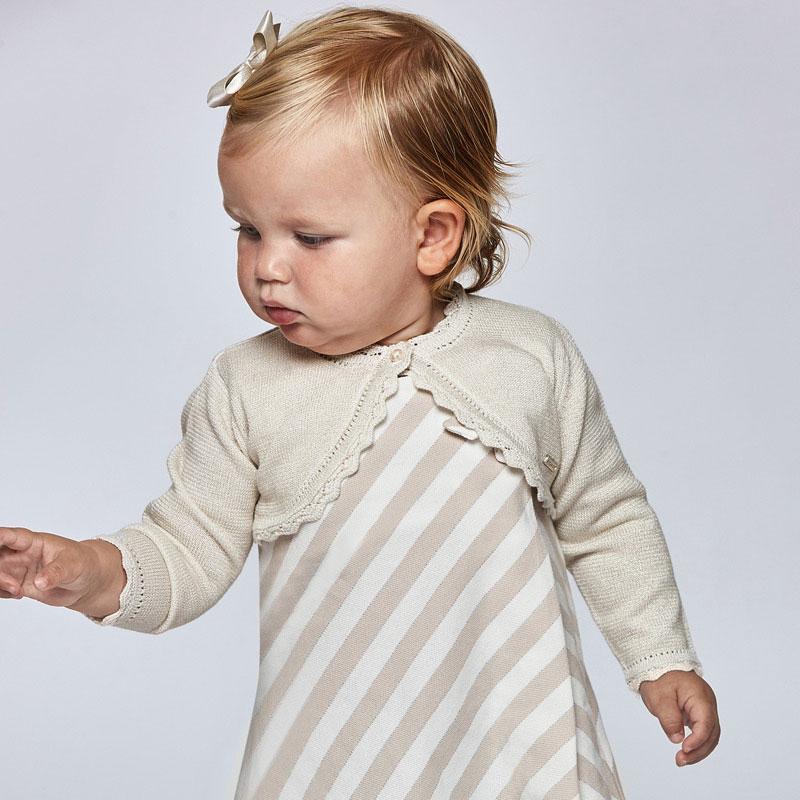 Rebeca tricot Ecofriends básica bebé niña. Tejido de punto tricotosa fino de tacto suave y agradable.Ideales para completar cualquier conjunto