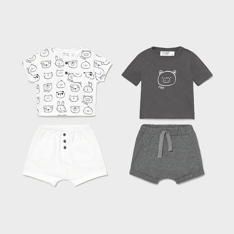 Conjuntos de camiseta y pantalón cortos. Combinalos como más te gusten. Tallas hasta 18M.