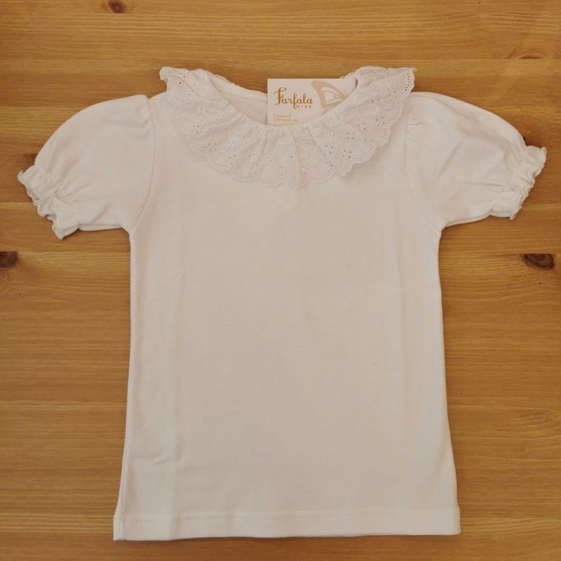Camiseta Fiyi blanca con cuello bordado